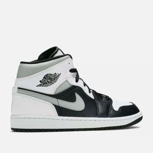 Air Jordan 1 Mid White Shadow 554724-073 Black Whi
